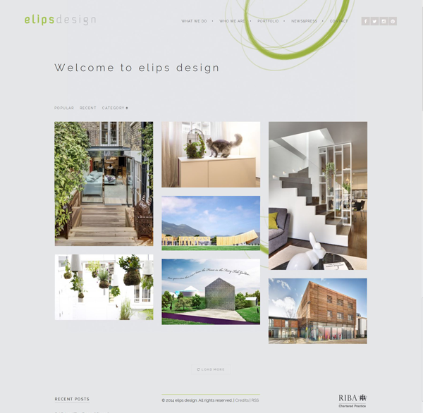 Elips design home page